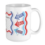 Customize Photo Best Dad Large Mug