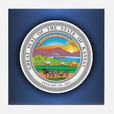 Kansas Seal.png Tile Coaster