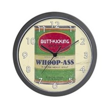 Can of Whoop Ass Wall Clock