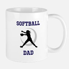 Softball Dad tshirt Mugs