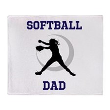 Softball Dad tshirt Throw Blanket