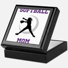 Softball Mom tshirt Keepsake Box