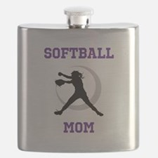 Softball Mom tshirt Flask