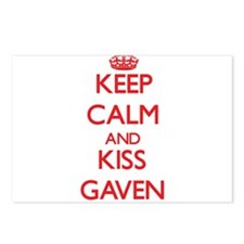 Keep Calm and Kiss Gaven Postcards (Package of 8)