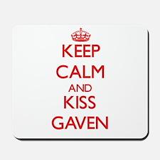 Keep Calm and Kiss Gaven Mousepad