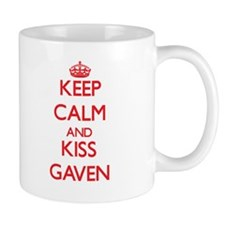 Keep Calm and Kiss Gaven Mugs