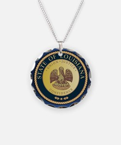 Louisiana Seal.png Necklace