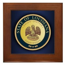Louisiana Seal.png Framed Tile