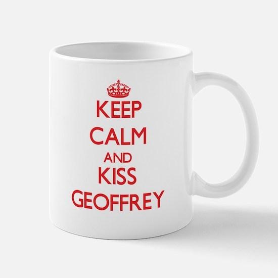 Keep Calm and Kiss Geoffrey Mugs