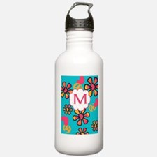 Custom Monogram Peace Love Water Bottle