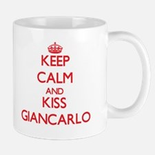 Keep Calm and Kiss Giancarlo Mugs
