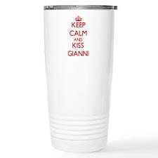 Keep Calm and Kiss Gianni Travel Mug
