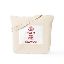 Keep Calm and Kiss Giovani Tote Bag
