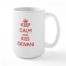 Keep Calm and Kiss Giovani Mugs