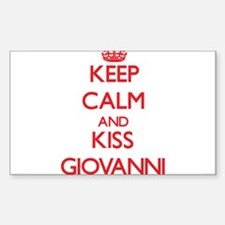 Keep Calm and Kiss Giovanni Decal