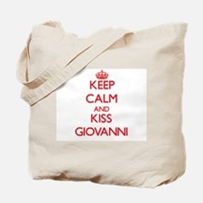 Keep Calm and Kiss Giovanni Tote Bag