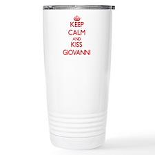 Keep Calm and Kiss Giovanni Travel Mug
