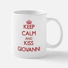 Keep Calm and Kiss Giovanni Mugs