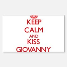 Keep Calm and Kiss Giovanny Decal