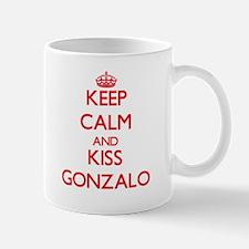Keep Calm and Kiss Gonzalo Mugs