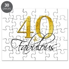 40 and Fabulous Black Gold Puzzle