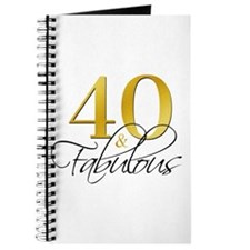 40 and Fabulous Black Gold Journal