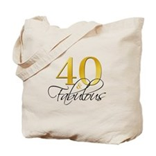 40 and Fabulous Black Gold Tote Bag