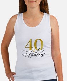 40 and Fabulous Black Gold Women's Tank Top