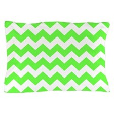 Lime Green Chevron Pillow Case