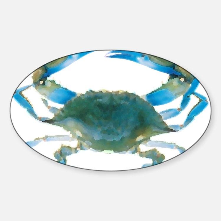 Cute Crab Sticker (Oval)