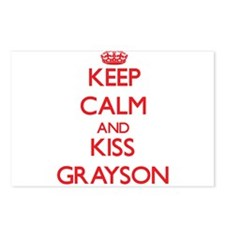 Keep Calm and Kiss Grayson Postcards (Package of 8