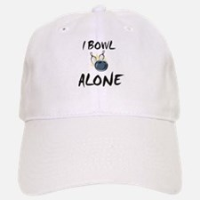 I Bowl Alone Baseball Baseball Cap