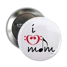 i love mom (red) Button
