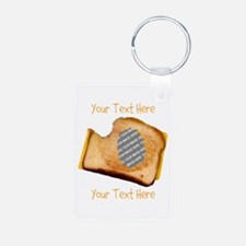 YOUR FACE Grilled Cheese S Aluminum Photo Keychain