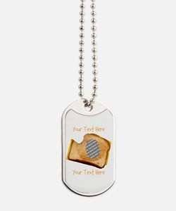 YOUR FACE Grilled Cheese Sandwich Dog Tags
