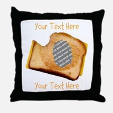 YOUR FACE Grilled Cheese Sandwich Throw Pillow