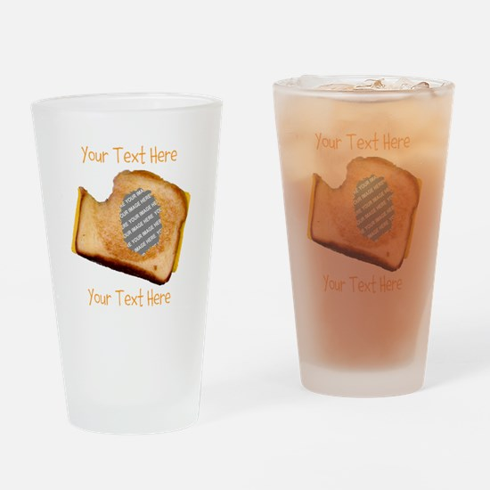YOUR FACE Grilled Cheese Sandwich Drinking Glass