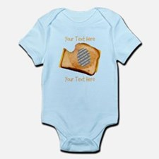 YOUR FACE Grilled Cheese Sandwich Infant Bodysuit
