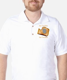 YOUR FACE Grilled Cheese Sandwich Golf Shirt