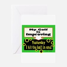 My Golf Is Improving/Jane Swan/ Greeting Cards