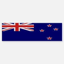 """""""New Zealand Flag"""" Bumper Bumper Bumper Sticker"""