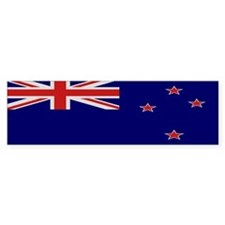 """New Zealand Flag"" Bumper Bumper Sticker"