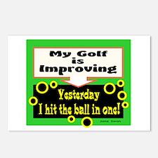 My Golf Is Improving/Jane Swan/ Postcards (Package