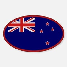 """""""New Zealand Flag"""" Oval Decal"""