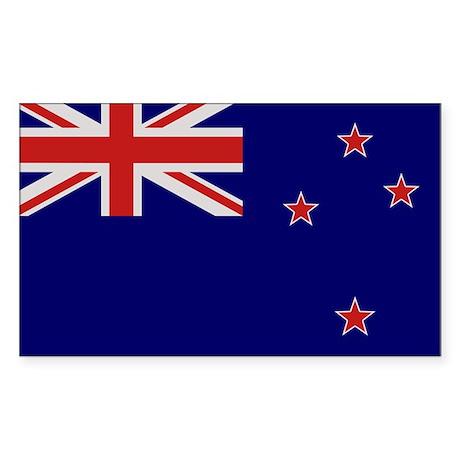 """New Zealand Flag"" Rectangle Sticker"