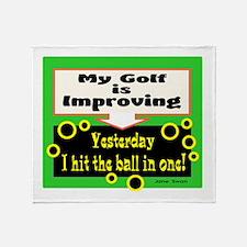 My Golf Is Improving/Jane Swan/ Throw Blanket