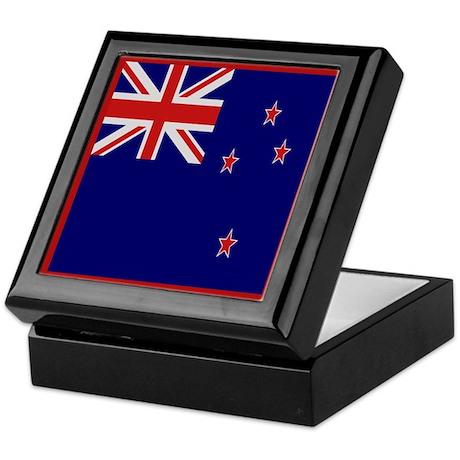 """New Zealand Flag"" Keepsake Box"