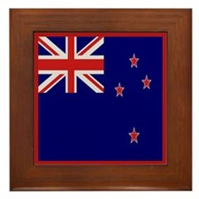 """New Zealand Flag"" Framed Tile"
