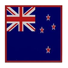 """""""New Zealand Flag"""" Tile Coaster"""