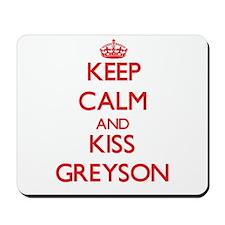 Keep Calm and Kiss Greyson Mousepad